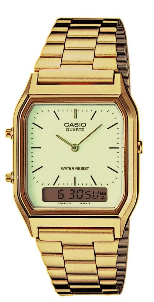 Magasin de montre sur Aix pour acheter la CASIO AQ-230GA-9DMQYES or pour hommes