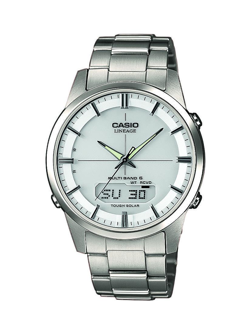Magasin de montre homme CASIO radio-pilotée avec bracelet en titane argent LCW-M170TD-7AER sur Marseille