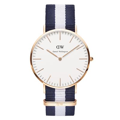 Montre pour hommes bleun marine et blanc bracelet Nato Daniel Wellington  W0104DW sur Marseille centre