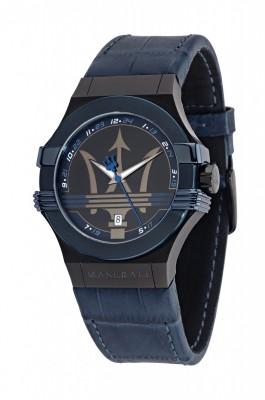 R8851108007  montre homme Maserati  sport chic POTENZA 3H GUN CASE GUN DIAL/BLUE STRAP